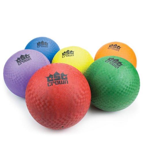 - Deluxe 8.5 Inch Rubber Playground Dodge Ball Set - Includes 6 Balls Plus Bonus Air Pump & 6 Needles!