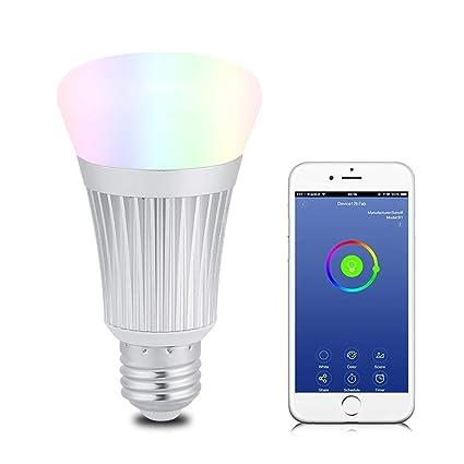 Garantie de satisfaction à 100% réflexions sur plusieurs couleurs Amazon.com: Smart WiFi Light Bulb, 7W Ampoule LED Wi-Fi ...