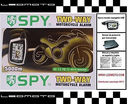 Alarma de moto SPY5000M con módulo sensor de presencia por