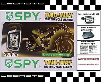 Alarma de moto SPY5000M con módulo sensor de presencia por microondas (Nuevo modelo): Amazon.es: Coche y moto