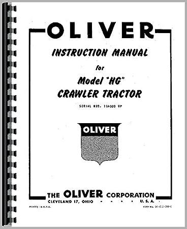 Crawler Service Manual for Oliver HG