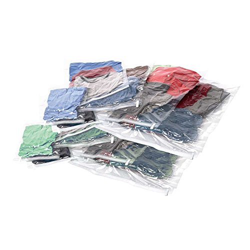 Samsonite Unisex-Adult Compression Bags 12-piece Kit (2 Pouch, 4 Carry-on, 4 Large, 2 Xl), Clear