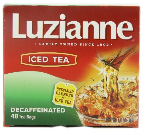 Luzianne Specially Blended for Iced Tea, Decaffeinated, 48-Count Tea Bags (Pack of 6) by ()