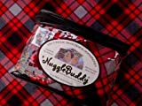 'NUGGLEBUDDY NEW FOR WINTER! Microwavable Moist Heat & Aromatherapy Organic Rice Pack Cold Pack. Beautiful Thick & Cozy Red and Black Plaid Flannel Fabric with SWEET LAVENDER Aromatherapy.