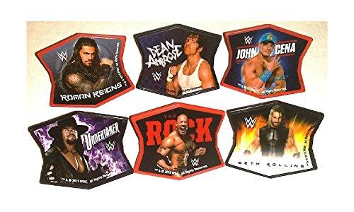 WWE Wrestling Ringleaders CENA Ambrose Roman ROCK 12 Topper Decors Cupcake RINGS (Cena Bar)