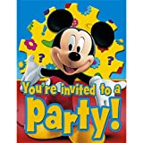 Mickey's Clubhouse Invitations, 8-Count Packages (Pack of 6)