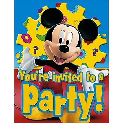 Mickey Mouse cumpleaños invitaciones: Amazon.es: Juguetes y ...