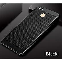 ZRSE Breathing Phone Case for Xiaomi Redmi 4X Hard PC Breath Phone Bag Case Thin Slim Back Cover Shockproof (Black)