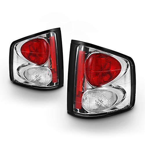 For 94-04 Chevy S-10 GMC Sonoma 96-00 Isuzu Hombra Chrome Clear Rear Tail Lights Signal Brake Lamps Smoked Left + Right
