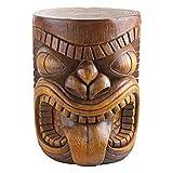 Design Toscano The Grande Tiki God Lono Tongue Side Table Statue, 50.75 cm, Polyresin, Woodtone