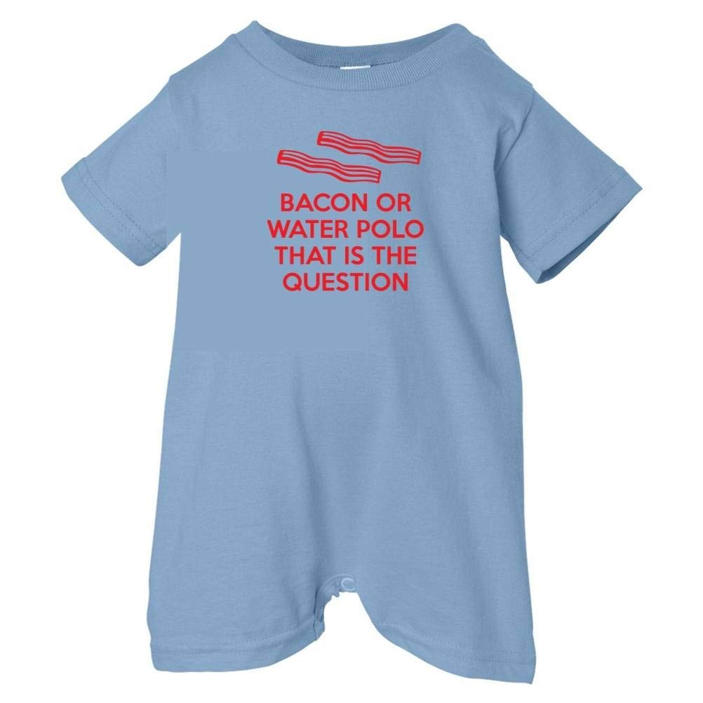 Mashed Clothing Unisex Baby Bacon Or Water Polo Is The Question T-Shirt Romper