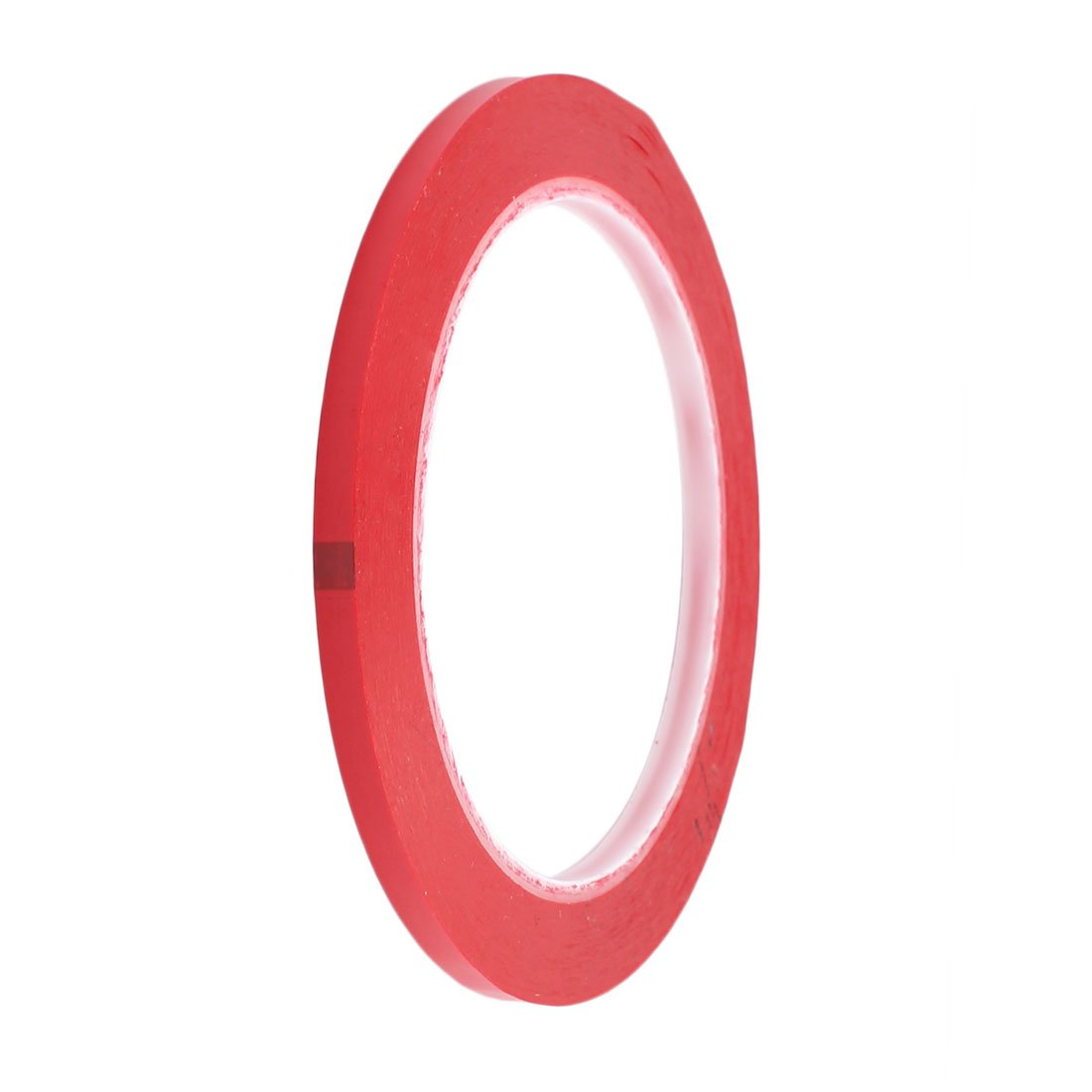 uxcell 5mm Width 66M Length Single Sided Adhesive Marking Tape Mara Tape Red