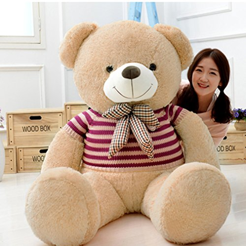 8' Bear (YXCSELL 2.5 FT 31 Inches Light Brown Cute Soft Plush Stuffed Animals Giant Big Teddy Bear Toys)
