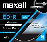 10 Maxell 3D Bluray Bd-r 25 Gb 4x Speed Black Edition Blu Ray Discs in Jewel Cases