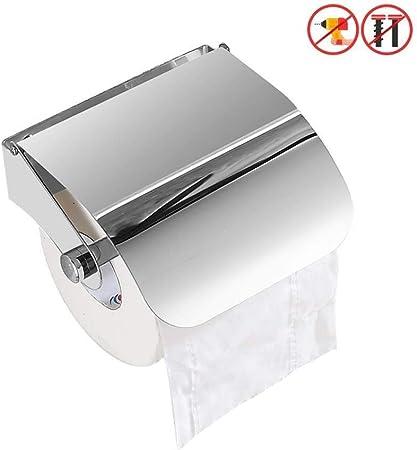 Stainless Steel Suction Toilet Paper Towel Kitchen Tissue Roll Holder Storage