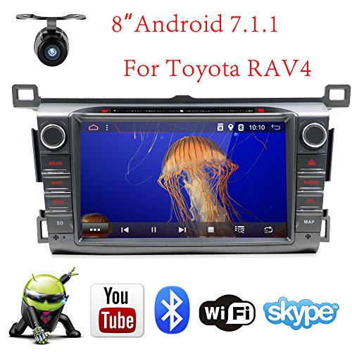 Android 7.1.1 Car Stereo 2G RAM for 2013-2015 Toyota RAV4 Radio 8 Inch Touch Screen GPS Sat Navigation Audio FM AM LCD Monitor Head Unit