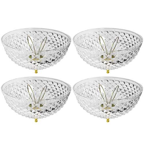 Evelots Ceiling Clip-on Light Bulb Shade-Lamp-Dome-Diamond -