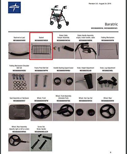 Medline Walker Basket (Basket for Medline MDS86800XW Rollator)