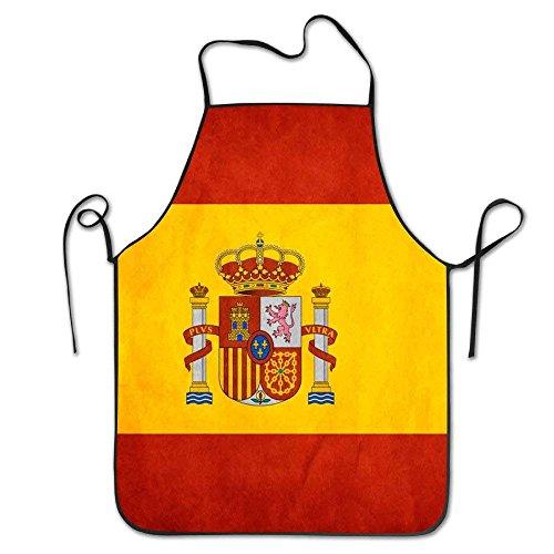 SPHGdiy Spain Flag Art Women Comfortable Kitchen Apron by SPHGdiy