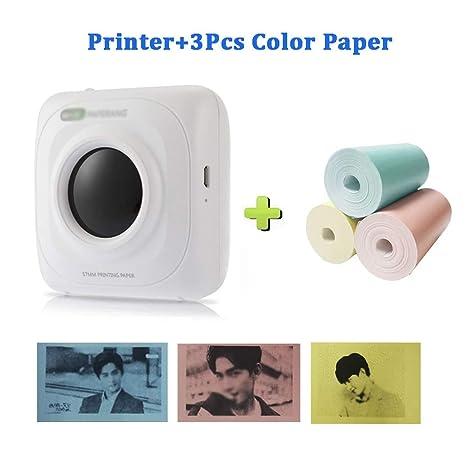 Zyj-Photo printer Teléfono Bluetooth de impresión portátil de ...