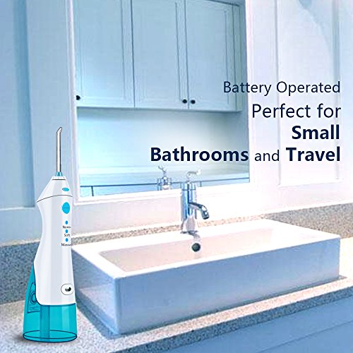 QQcute Water Flosser Cordless Oral Irrigator - IPX7 Portable Rechargeable Tooth Cleaner Whitening With 3 Modes Dental Water Jet Tips, Travel and Home Use by QQcute (Image #3)