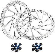 OSAGIE Bike Disc Brake Rotors 160/180/203mm 2pcs Set Bicycle Disk Brakes with 12pcs Screws for Most Bicycle Ro