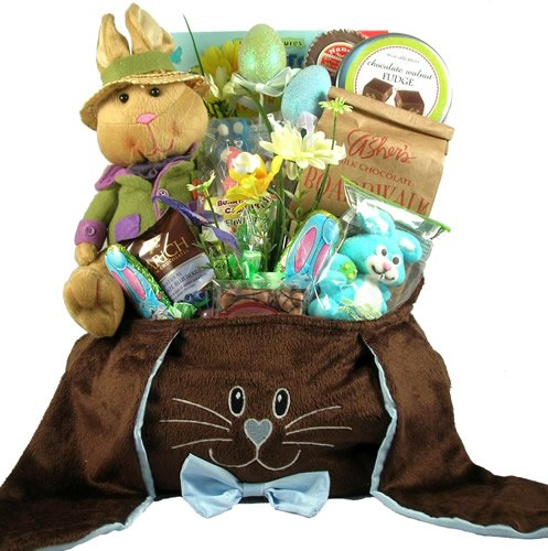 Deluxe Chocolate Bunny, Easter Gift Basket For Children
