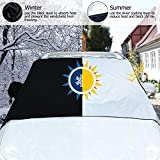 TOPLUS Windshield Snow Cover- Windshield Protector, All Weather Winter Summer Auto Sun Shade for Pickups and Most Vehicles