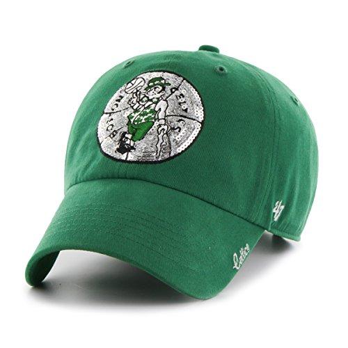 NBA Boston Celtics Women's Sparkle Clean Up Hat, Women's, Kelly (Hats Celtics)
