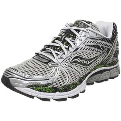 Saucony Men's ProGrid Triumph 8 Running Shoe,Silver/Black/Citron,10 M US