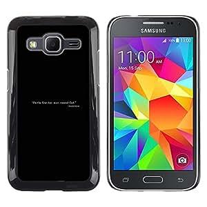 LECELL--Funda protectora / Cubierta / Piel For Samsung Galaxy Core Prime -- El hombre creó a dios --