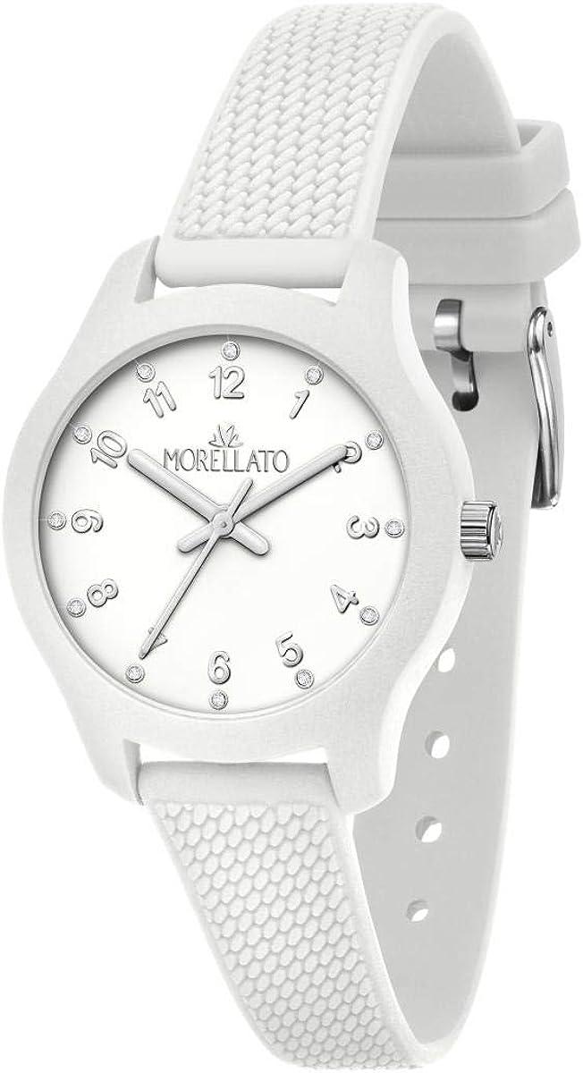 Morellato Reloj para Mujer, Colección Soft, en Poliuretano, Silicona, con Correa de Silicona - R0151163503