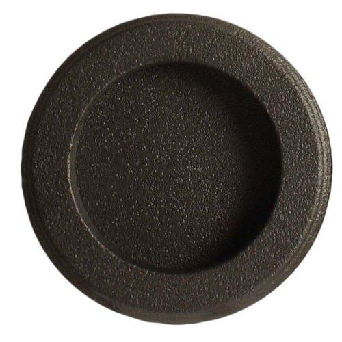 Emtek 2211 2-1/2 Inch Diameter Round Flush Door Pull, Medium Bronze