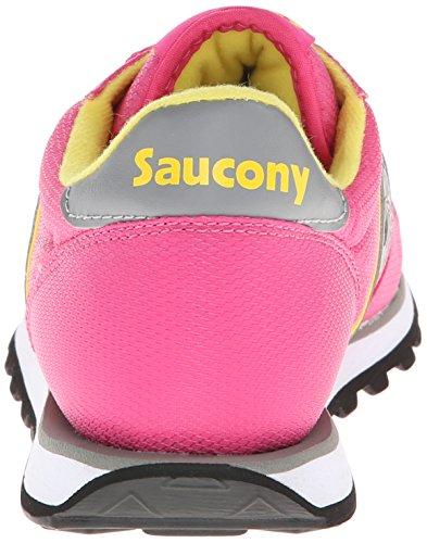 Saucony Original Kvinna Jazz Låg Pro Nylon Mode Sneaker Rosa