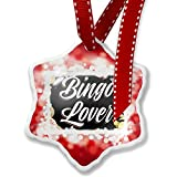 Christmas Ornament Floral Border Bingo Lover, red - Neonblond