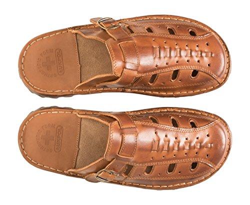 Sandalen der Schuhe Herren Einlage Braun Modell Echtem 870 Bequeme Aus mit Hausschuhe Buffelleder Orthopadischen Lukpol XTax4nZaq