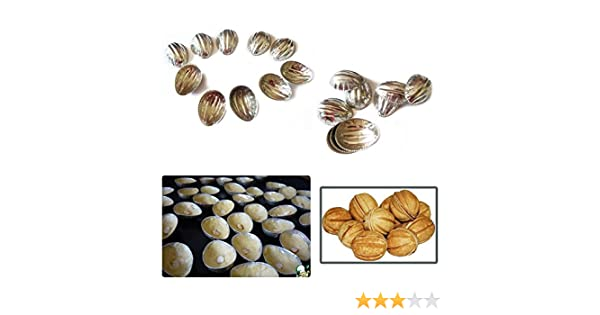 Metal Mold Form Nuts For Sweet Russian Nuts Oreshki 10pcs Pastry