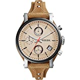 Fossil Women's ES4177 Original Boyfriend Sport Chronograph Tan Leather Watch