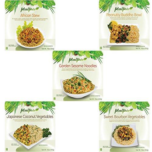 PlantPure 5 Pack Vegan Plant Based Frozen Entrees, 16 oz by PlantPure