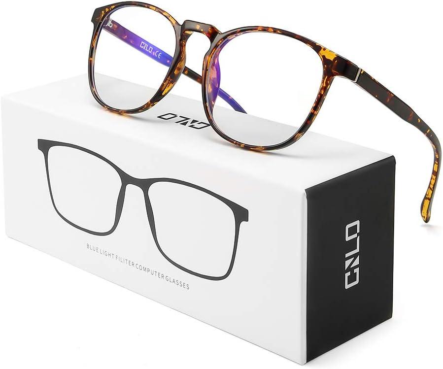 CNLO anteojos de bloqueo de luz azul, gafas de ordenador, protección contra radiación, gafas de juego, para protección UV, anti fatiga, lentes de marco ligero, para hombres y mujeres