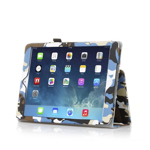 TNP iPad Case Camouflage Blue