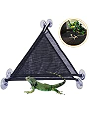 MICOKAY 2 Pack Bearded Dragon Lizards Hammock Triangle Shape with Strong Suction Cup Reptile Hammock DecorAccessories Suitable for Large & Small Geckos, Chameleon or Lizards