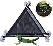 MICOKAY 2 Pack Bearded Dragon Lizards Hammock Triangle Shape with Strong Suction Cup Reptile Hammock DecorAcc