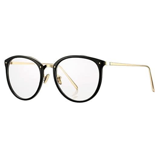 Amazon.com: COASION Vintage Round Optical Glasses Frame Hipster Non ...
