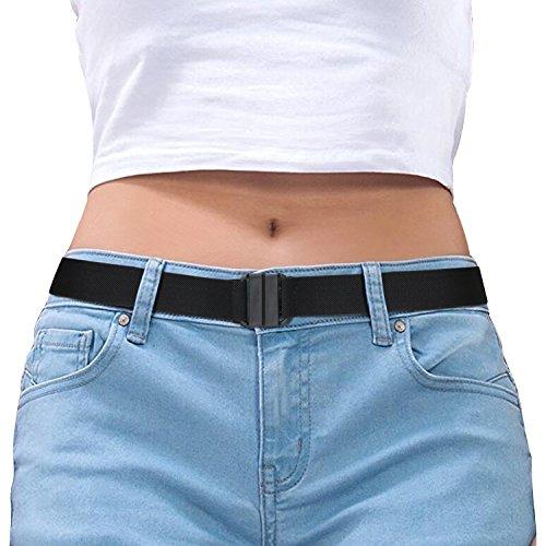 (Invisible Belt for Women Black Stretch No Show Belt Adjustable for Dress Jeans Pants)