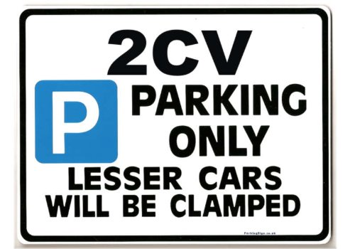 2CV Car Parking Sign Gift for CITROEN DOLLY Dyane DEUX owner Size Large 205 x 270mm Made by Case Graphics in the UK