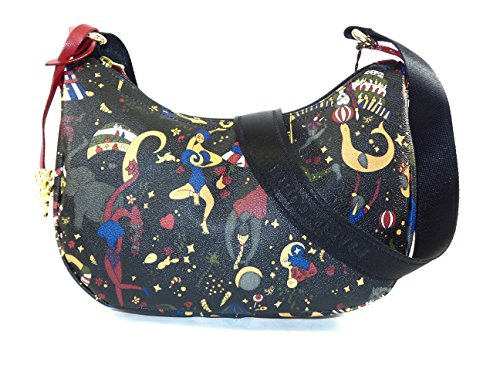 Borsa a Tracolla small Piero Guidi Magic Circus Soft 28x18x10 cm - Nero / Prugna