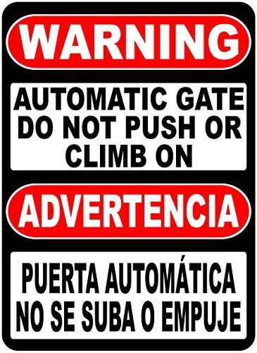 Aqf527907 Placa de advertencia bilingüe de advertencia ...