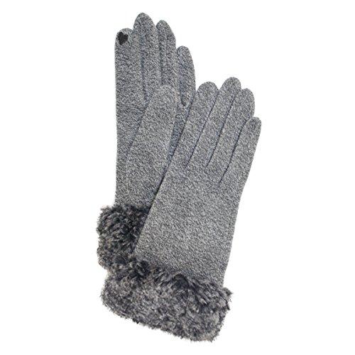 (グッズコウベ) Goods-kobe 天然アミノ酸配合しっとり保湿 タッチパネル対応 フェイクファースマホ手袋