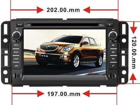 Car GPS Navigation System for GMC Yukon 2007-2014 GMC Acadia 2007-2012 Chevrolet Tahoe 2007-2014 Buick Enclave 2008-2012 Chevrolet Suburban 2007-2014 Double ...